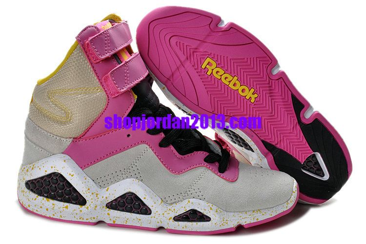 super popular 71e32 271d5 Reebok Womens CL Chi-Kaze Basquiat Pink Grey Black Womens Basketball Shoes, Pink  Sneakers For Womens Pink Shoes over 63% off