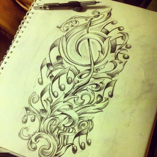 Musical Filigree Figuring Out Upper Arm Half Sleeve Handdrawn Pencildrawing Ta Half Sleeve Tattoos Drawings Half Sleeve Tattoo Half Sleeve Tattoos Designs