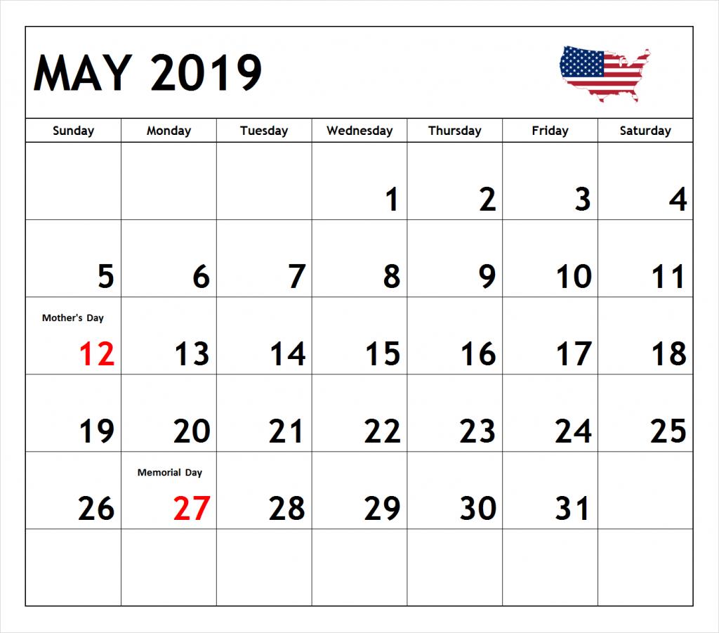 May 2019 Calendar With Holidays Australia May May2019