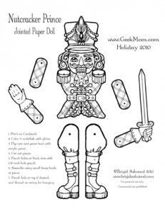 Tactueux image with nutcracker worksheets printable