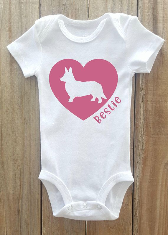 Corgi baby onesie, Corgi Best Friend, Corgi Shirt, Dog Breed Shirt ...