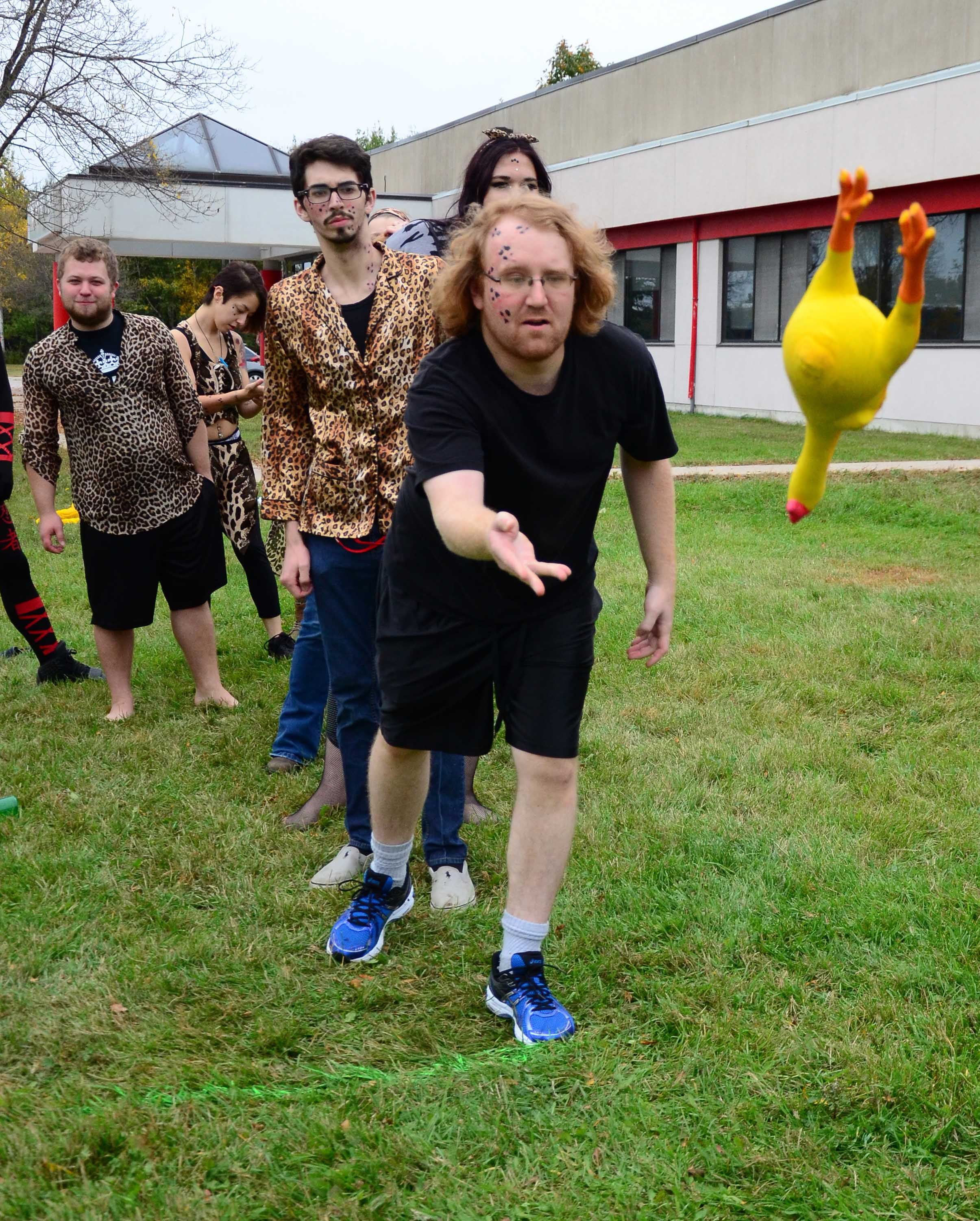Campus Life Day 2014 - Tossing the chicken!