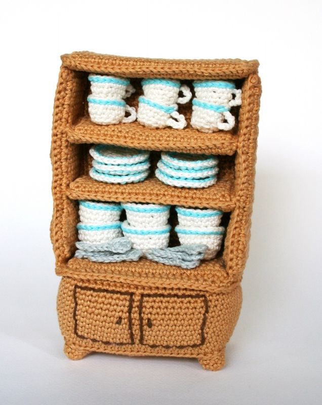 furniture kitchen amigurumi pattern by christel krukkert kinderspielzeug. Black Bedroom Furniture Sets. Home Design Ideas