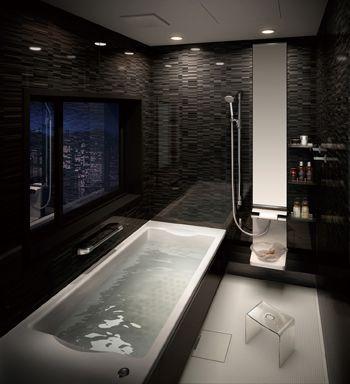 浴槽の寸法や容量を一新したシステムバス ハウステック モダンな