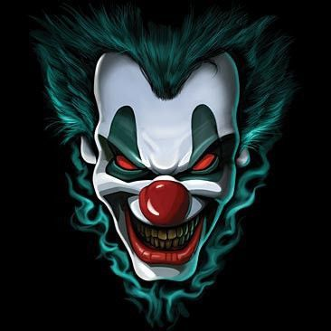 All of our shirts are custom-designed and made with pure creativity for our customers. They are very comfortable and soft. They are direct to garment printed. All shirts are pre-shrunk. Scary Clown is