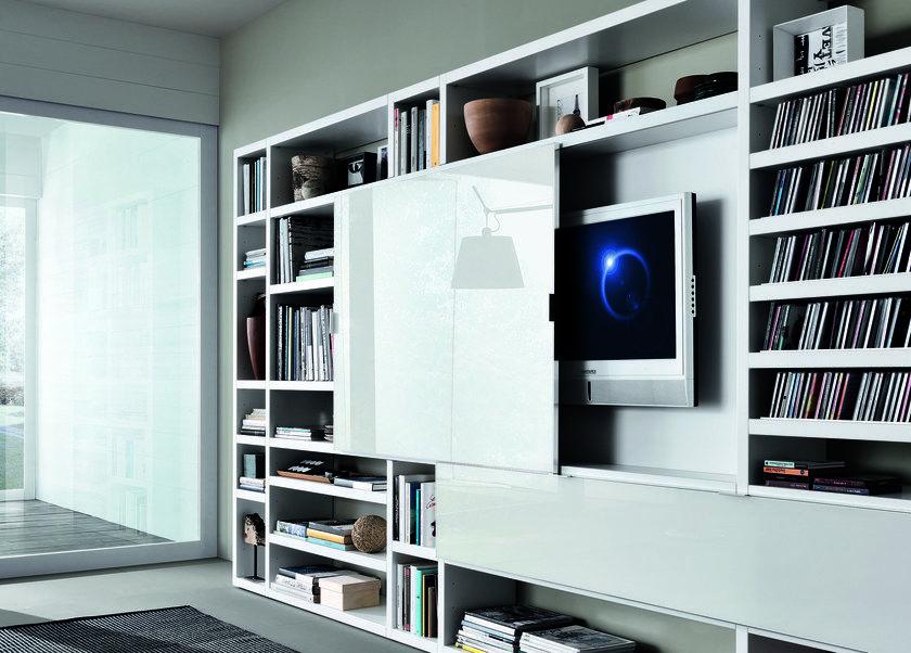 Mueble modular de pared composable lacado CROSSING Mueble modular