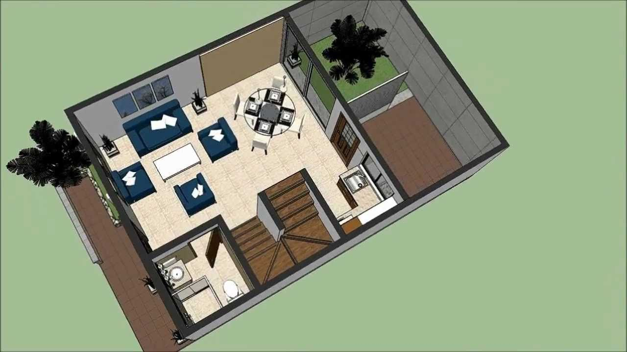 Modelos de planos de construcci243n de terreno 6x15 floor home for Casa minimalista 90m2