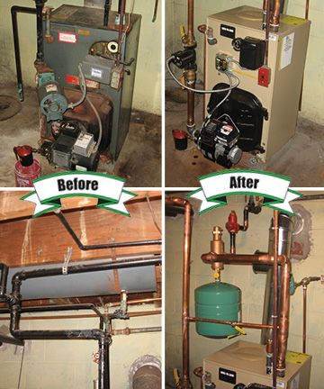 New Weil McLain oil fired boiler #HoltzopleHeatingAndAirConditioning ...