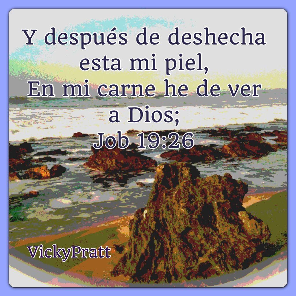 Job 19:26 ....A esto le llamamos fe en nuestro Senor Dios.