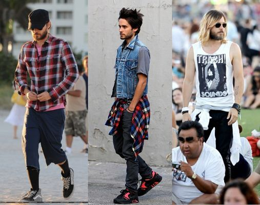 This is a modern interpretation of 1990's men's fashion.