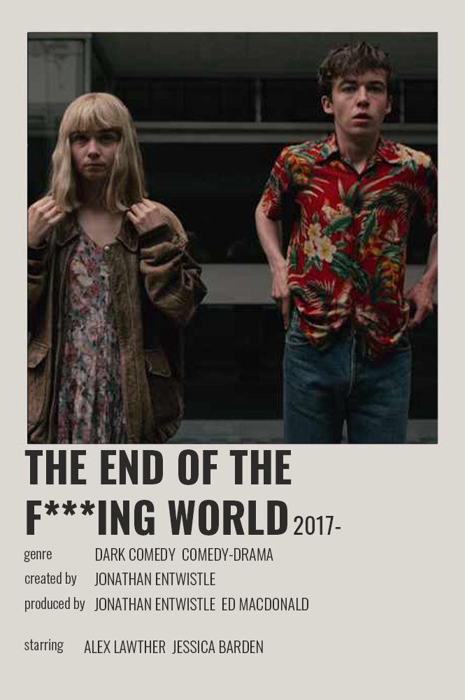 The End Of The F Ing World Polaroid Poster In 2020 Film