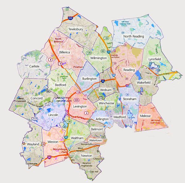 Burlington Ma Hvac Service Area Map Area Map Map Burlington