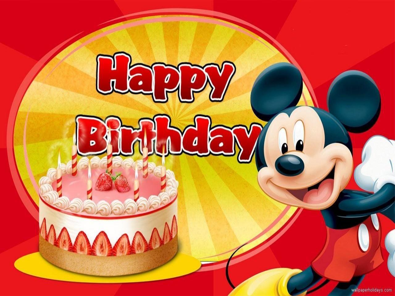 Disney Happy Birthday Feliz Aniversario Aniversario Cores
