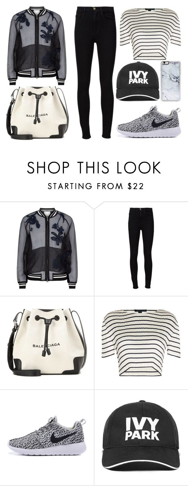 """""""Florals and Stripes"""" by mollie-simmonds ❤ liked on Polyvore featuring 3.1 Phillip Lim, Frame Denim, Balenciaga, Alexander Wang, Ivy Park and Zero Gravity"""