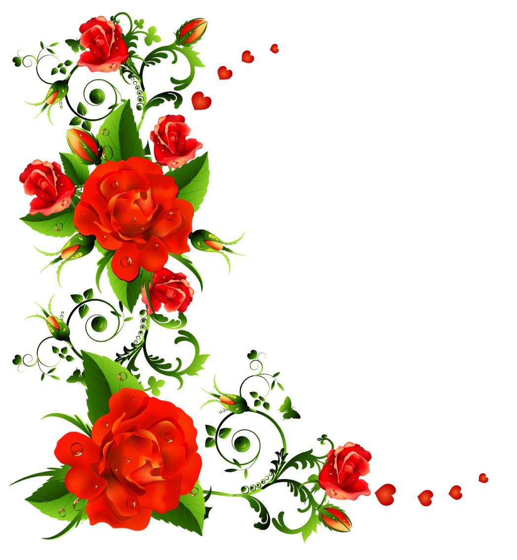 Clipart flowers Flower bouquet drawing, Flower border