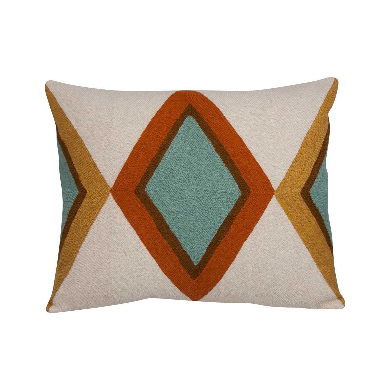 Nushka urivierau handstitched embroidered cushion ethnological