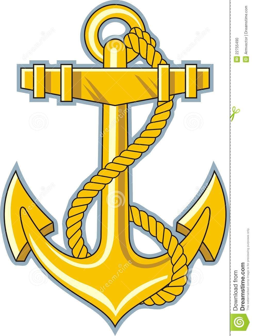 Gold Anchor Stock Photo Image 22755490 Clipart