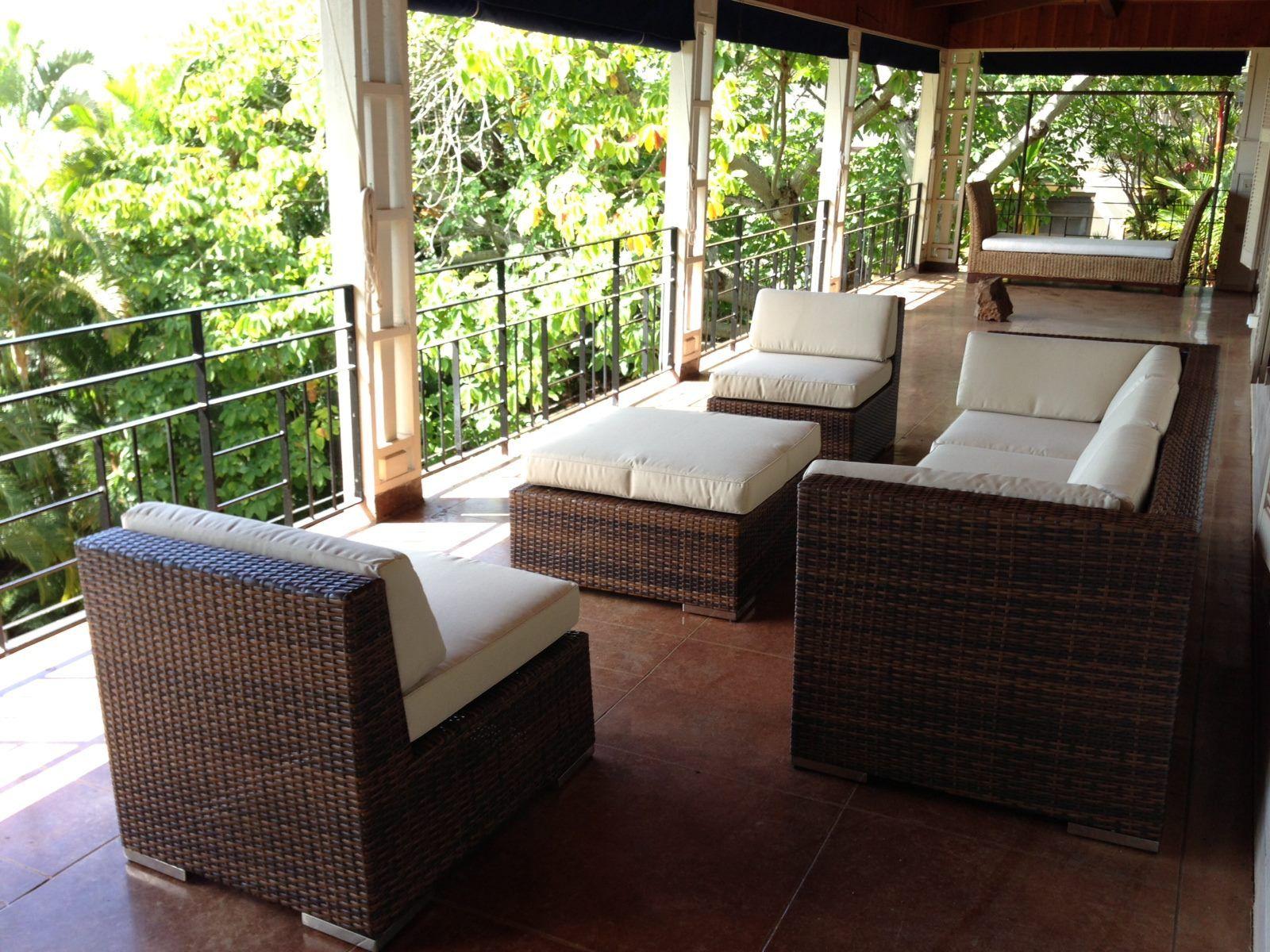 Ohana Wicker Furniture Outdoor Patio Furniture Deep Seating Set / Ohana  Depot