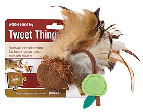 Petlinks Tweet Thing Cat Toy Wobble Sound Toy Want Additional Info Click On The Image Shoutout Cat Toys Cats Cat Fleas