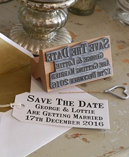 Custom Save The Date Stamp