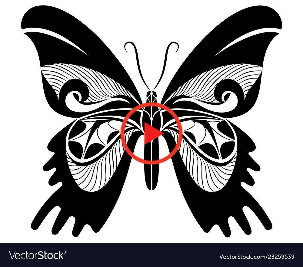 Set Schmetterlinge Silhouetten Vektor Illustration Beautytatoos Kleiner Schmetterling Tattoo Schmetterling Tattoo Tattoos Schmetterling