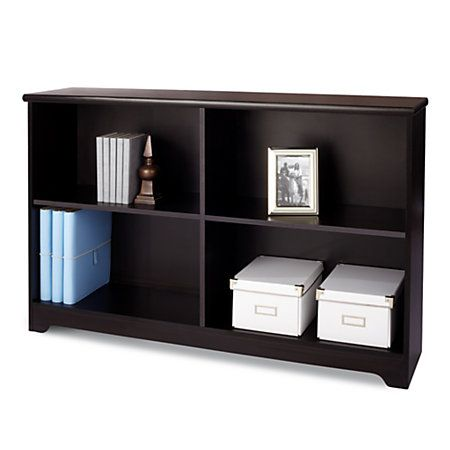 Realspace Magellan Collection 2 Shelf Sofa Bookcase 29 H X 47 14 W X 11 35  D Espresso By Office Depot U0026 OfficeMax