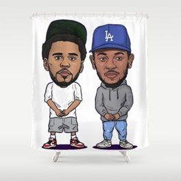 JCOLE X KENDRICK LAMAR Shower Curtain Artwork Cartoon Rapper Us Dope