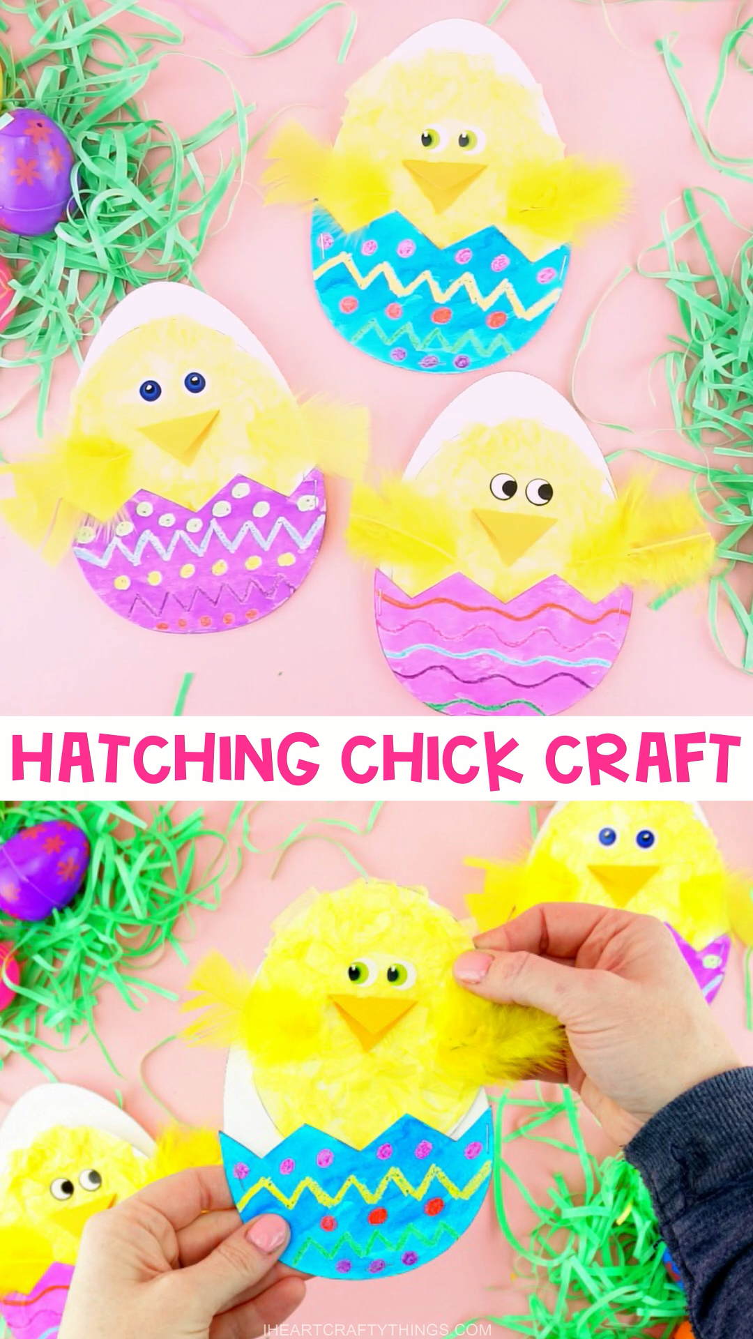 Hatching Chick Easter Craft for Kids -   - #chick #craft #diyhomecrafts #easter #hatching #homediyprojects #Houseinterior #Kids