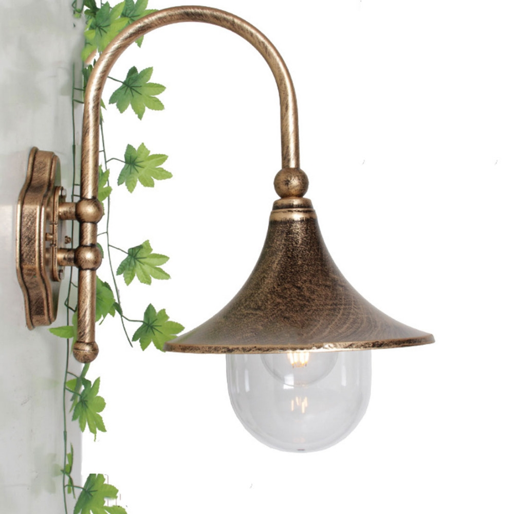 46.30$  Buy now - http://aliiqr.worldwells.pw/go.php?t=32717792242 - 1pc Homestia Exterior Wall Lamp Exterior Lamp Wall Sconce Bronze/Black outdoor Wall Lantern  Perfect for yard fence doorway 46.30$