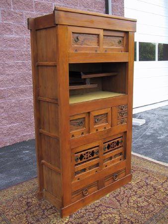 antique japanese mizuya kitchen tansu 2 oosterse meubels meubels houten on kitchen organization japanese id=46693