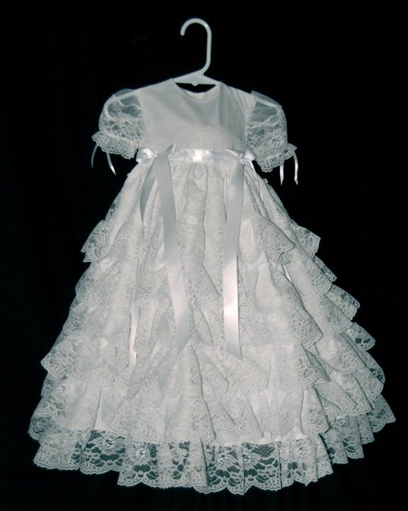 Wedding Dress To Christening Gown: Lacey Christening Gown / Blessing Gown. $85.00, Via Etsy