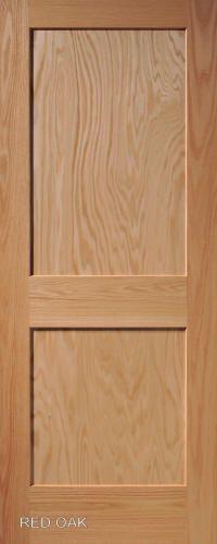 Red Oak Mission 2 Panel Wood Interior Doors