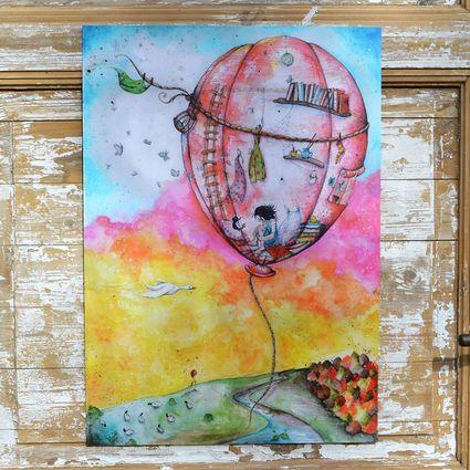 Kuumailmapallon juliste   Weecos