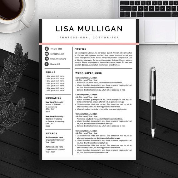 Creative Resume Template | CV Template | Cover Letter | For MS Word ...