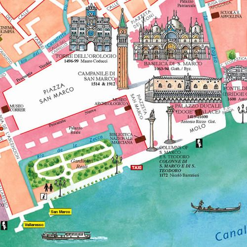 san marco italy map Lambethcyclingfortourists Illustrated Map Venice Map