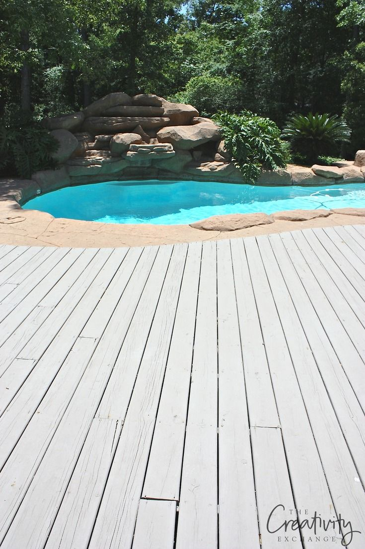 Best Paints To Use On Decks And Exterior Wood Features Wood Pool Deck Painted Pool Deck Deck Paint