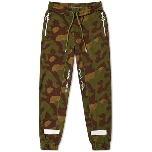 09a315085c80 Off-White Diagonal Camouflage Sweat Pant ( 493) ❤ liked on Polyvore  featuring activewear