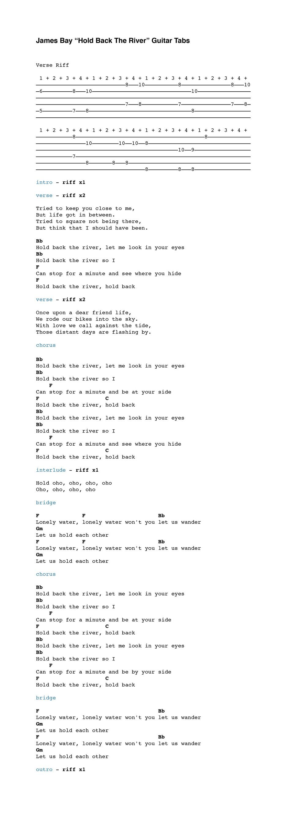 Hold The Line Tab by Toto - Steve Lukather - Rythm Guitar ...