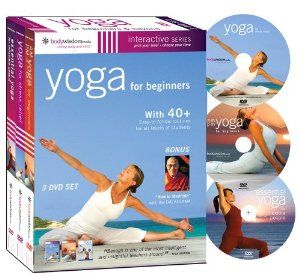 yoga for beginners 3 dvd set 2010 amazoncouk