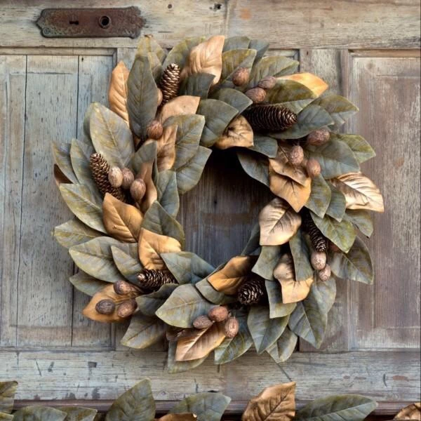 Photo of Gilded magnolia wreath