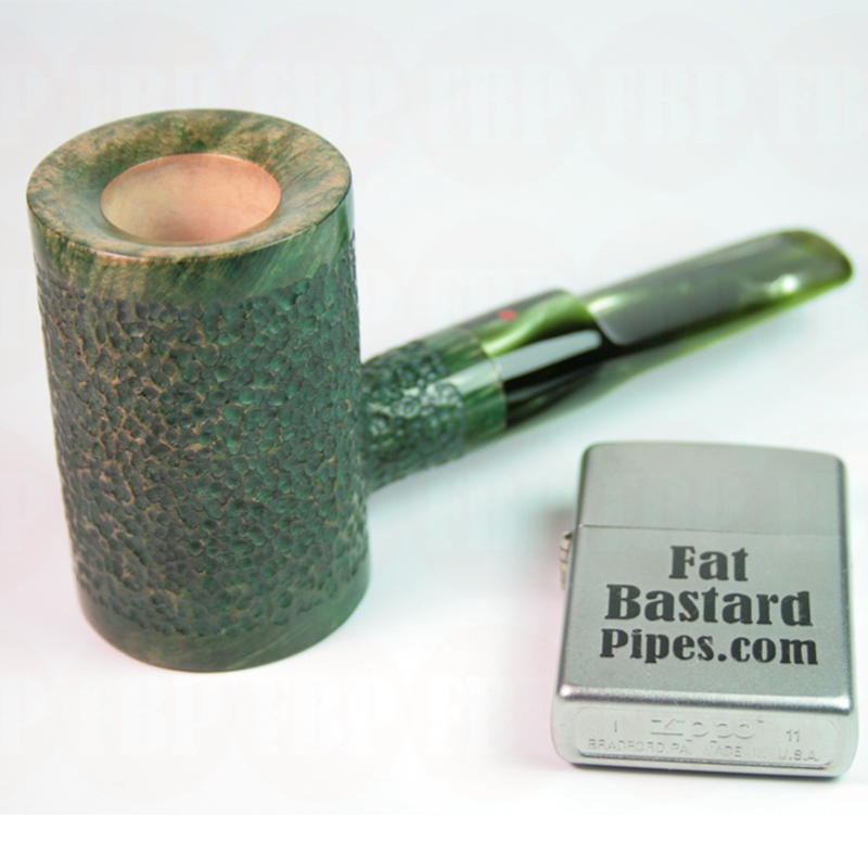 Fat Bastard Sailor Poker Pipe: Fat Bastard Green Rustic Poker Pipe