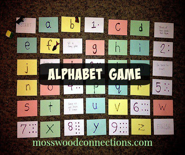 Diy Alphabet Game  Alphabet Games Learning And Child