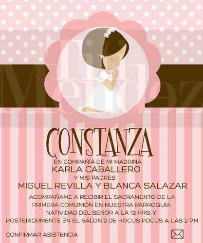 invitaciones de primera comunion on line