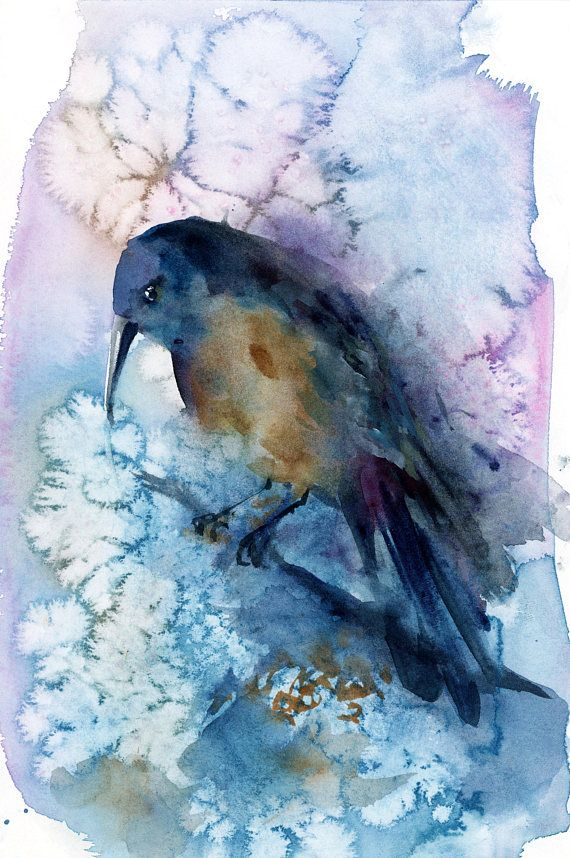 Modern Bird Original watercolor painting painting of bird