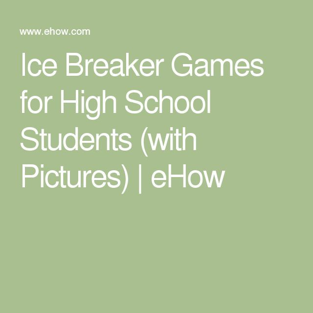 Ice Breaker Games for High School Students Ice breakers, High - how to write a resume ehow