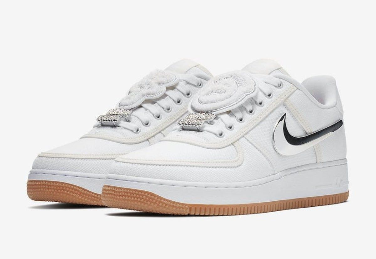 "2018 Discount Nike Air Force 1 Low ""Travis Scott"" Sail White"