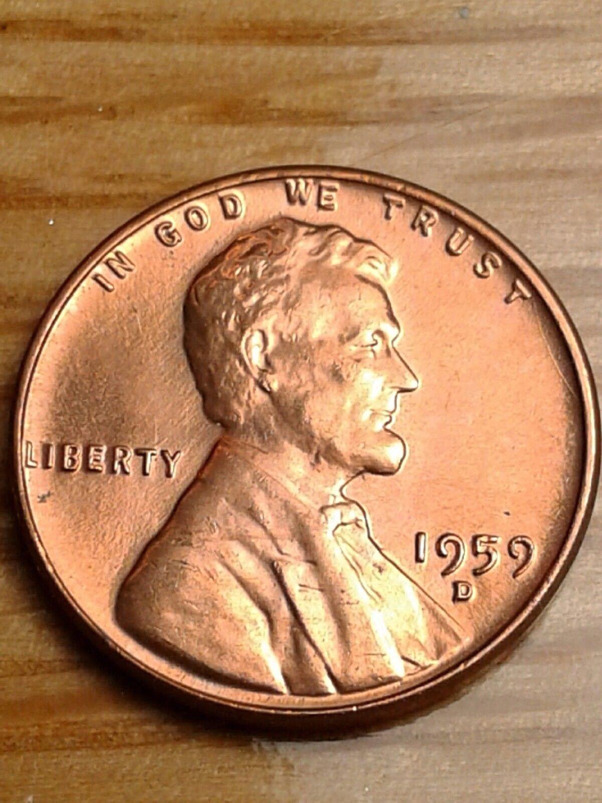 1960 D 1960D Lincoln Memorial Penny ERROR Coin t
