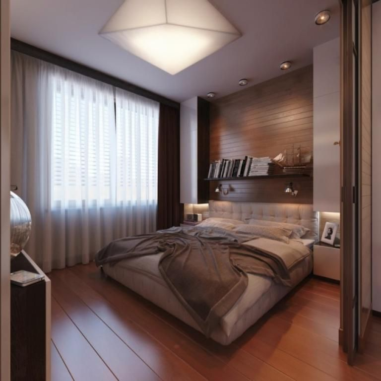 30 Stylish And Contemporary Masculine Bedroom Ideas: Creative Ideas For Floor To Ceiling Headboards In The