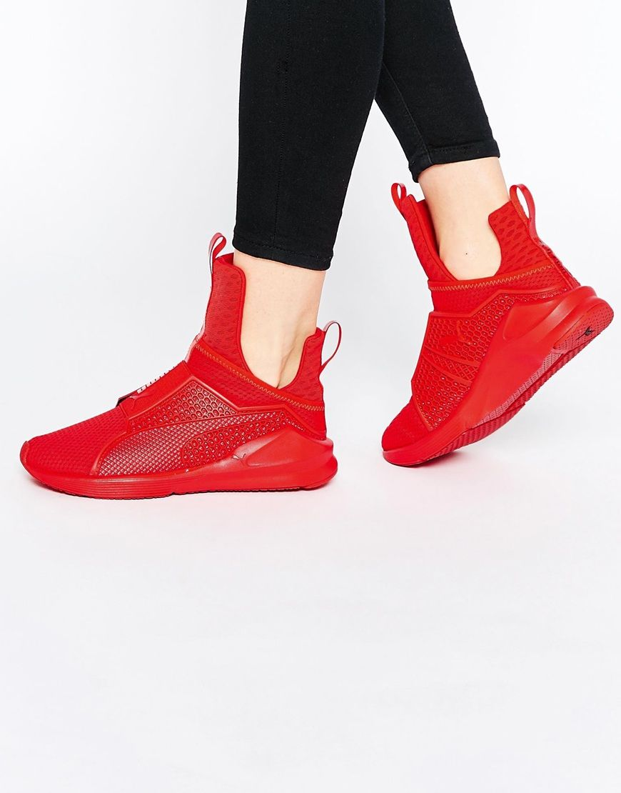 1d171f81d641 Image 1 of Puma X Rihanna Fenty Trainers In Red