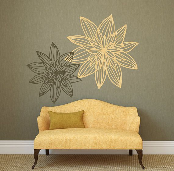 Modern Flower Wall Decals for Walls Stickers for Walls Stylish Wall ...